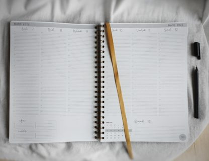 Semainier agenda A4 (grand)